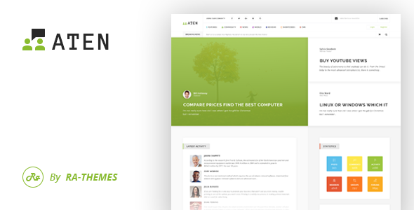 Aten — Intranet & Community PSD Template