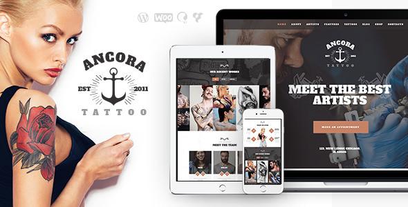 Ancora v1.1 — Tattoo Salon and Ink Shop WordPress Theme