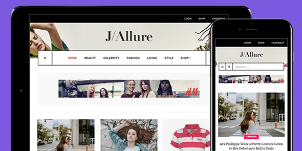 JA Allure v1.0.2 — Creative Joomla Template for Beauty and Fashion Magazine Websites