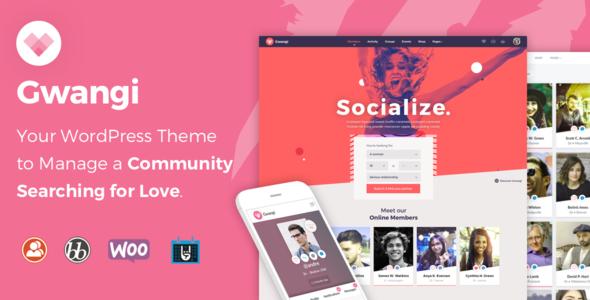 Gwangi v1.0.4 — Dating & Matchmaking Community Theme