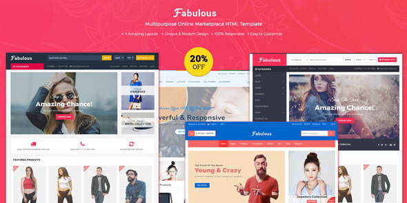 Fabulous — Multipurpose eCommerce HTML Template