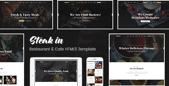 Steak In — Restaurant & Cafe HTML5 Template