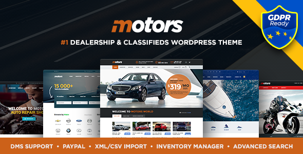 Motors v4.1.2 — Automotive, Cars, Vehicle, Boat Dealership