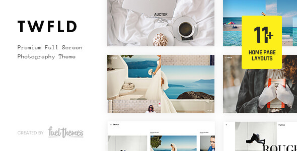 TwoFold v3.1.8 — Fullscreen Photography Theme