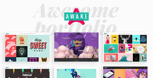 Awake v1.3 — A Vibrant and Fresh Portfolio Theme