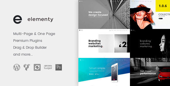 Elementy v1.0.6 — Multipurpose One & Multi Page WordPress Theme