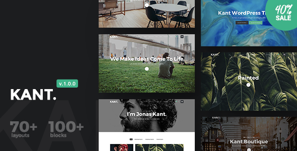 Kant v1.0.0 — A Multipurpose WordPress Theme for Startups