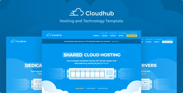 Cloudhub — Hosting and Technology HTML Template