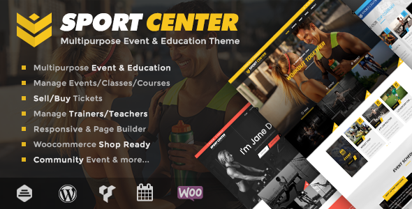 Sport Center v2.3.1 — Multipurpose Events & Education Theme