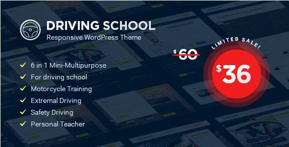 Driving School v1.1.1 — WordPress Theme
