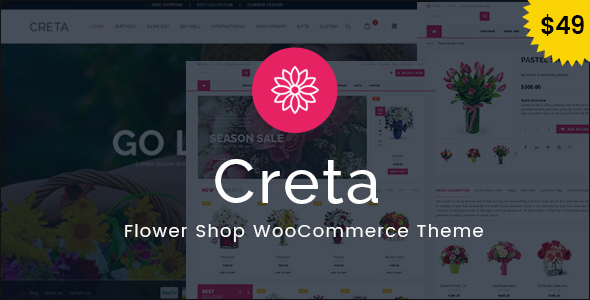 Creta v2.4 — Flower Shop WooCommerce WordPress Theme