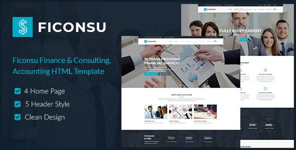 Ficonsu — Consultant Finance HTML Templates