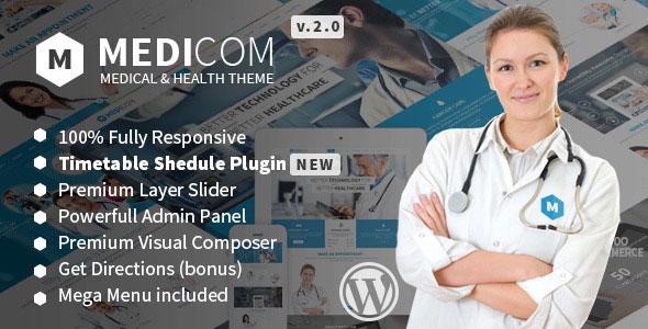 Medicom v3.0.4 — Medical & Health WordPress Theme