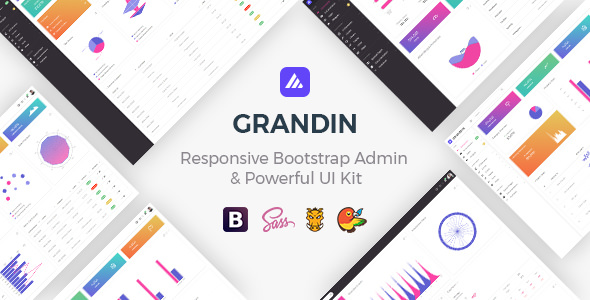 Grandin — Responsive Bootstrap Admin & Powerful UI Kit