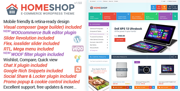 Home Shop v1.5.0 — WooCommerce Theme