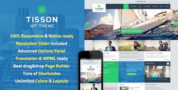 Tisson v1.4 — Themeforest Premium WordPress Theme