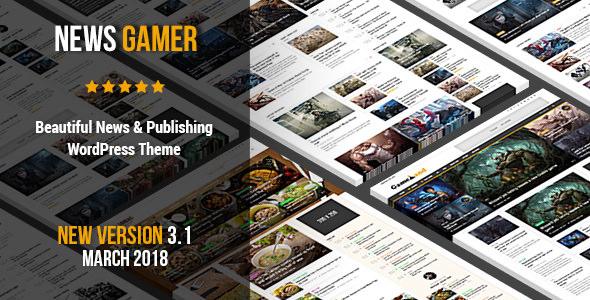News Gamer v3.1 — Premium WordPress News / Publishing Theme