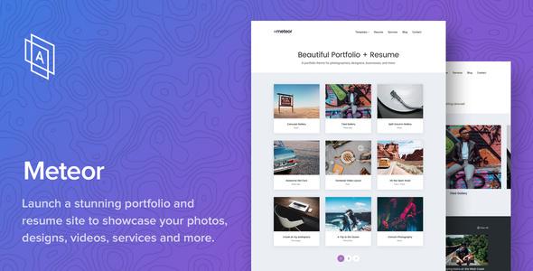 Meteor v1.1.0 — Beautiful Portfolio and Resume Theme