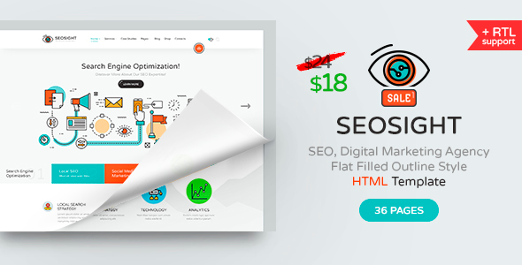 Seosight — SEO, Digital Marketing Agency HTML Template