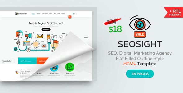 Seosight — SEO, Digital Marketing Agency HTML Template