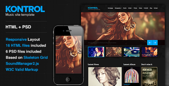 Kontrol — Music Site Template