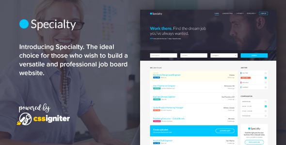 Specialty — Job board HTML template