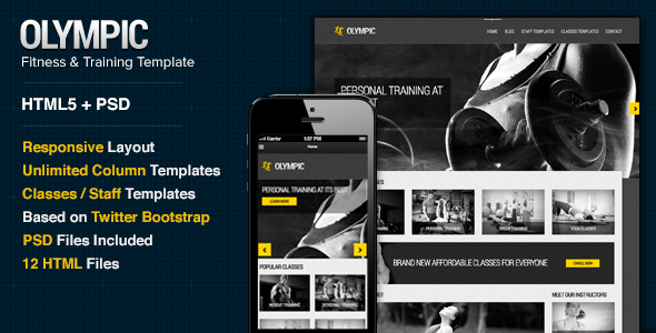 Olympic — Fitness & Health Site Template