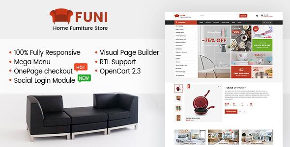 Funi — Drag & Drop eCommerce OpenCart 3 & 2.3 Theme