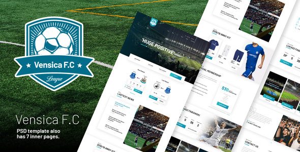 Vensica FC — Football Club Creative PSD Template