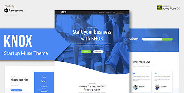 KNOX — Startup, Agency, Apps Muse Theme