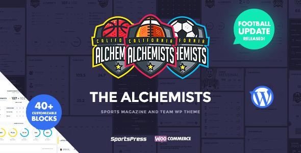 Alchemists v3.0.6 — Sports Club and News WordPress Theme