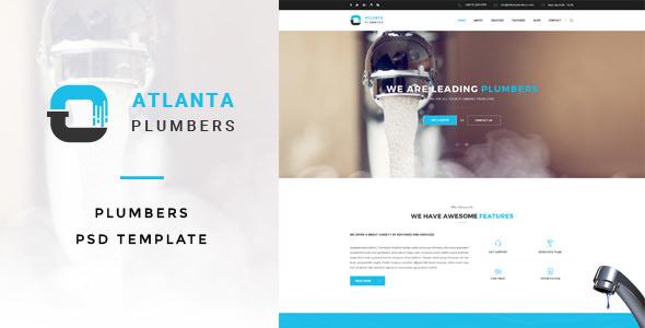 Atlanta : Plumbers PSD Template