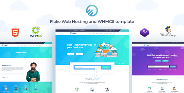 Flake — Web Hosting and WHMCS Technology Template