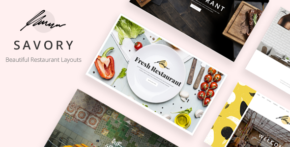 Savory v1.3 — A Beautiful Restaurant WordPress Theme