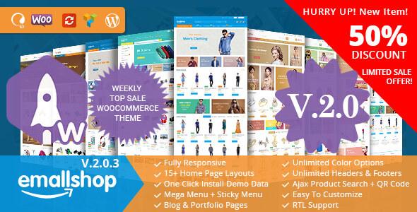 EmallShop v2.0.9 — Responsive Multipurpose WooCommerce Theme