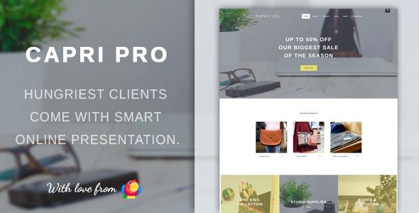 Capri Pro v1.1.22 — Minimalist eCommerce Store Theme