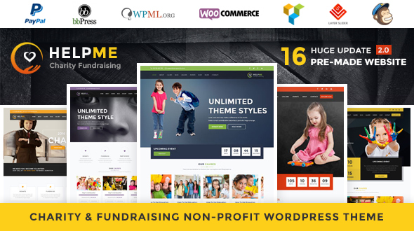 HelpMe v2.5 — Nonprofit Charity WordPress Theme