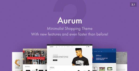 Aurum v3.1 — Minimalist Shopping Theme