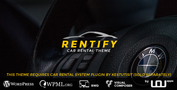 Rentify v2.0.3 — Car Rental WordPress Theme