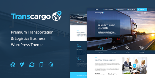 Transcargo v2.0 — Logistics & Transportation WP Theme