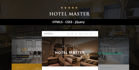 Hotel Master — Hotel HTML Template