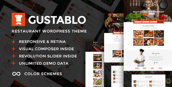 Gustablo v1.0 — Restaurant & Cafe Responsive WordPress Theme