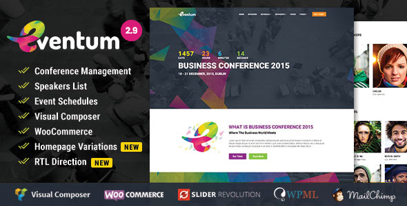 Eventum v2.9 — Conference & Event WordPress Theme