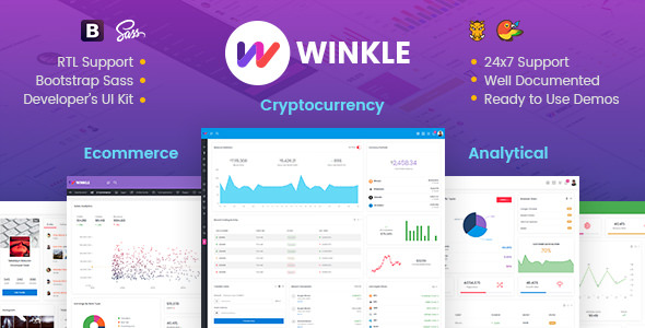Winkle — Responsive Bootstrap Admin & Powerful UI Kit
