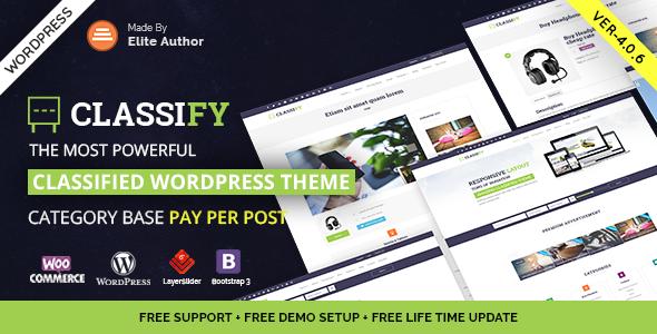 Classify v4.0.4 — Classified Ads WordPress Theme