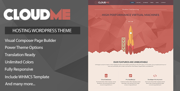 Cloudme Host v1.0.9.2 — WordPress Hosting Theme + WHMCS