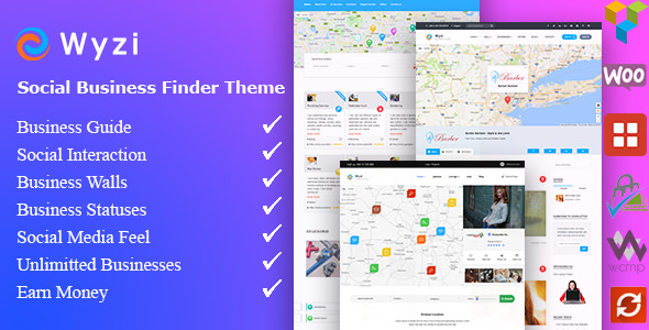 WYZI v2.1.9.2 — Social Business Finder Directory Theme