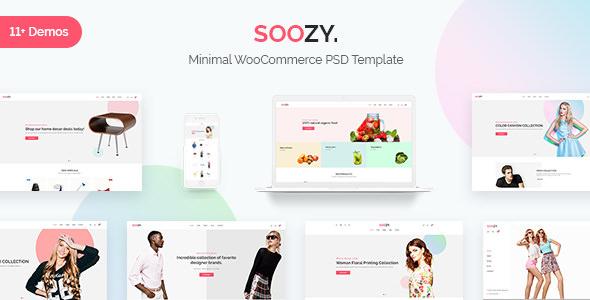 Soozy — Minimalist WooCommerce Psd Template