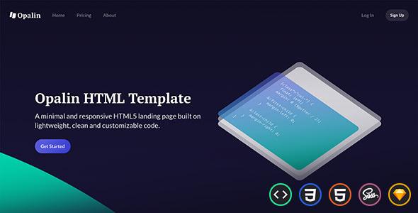 Opalin — Startup HTML Template
