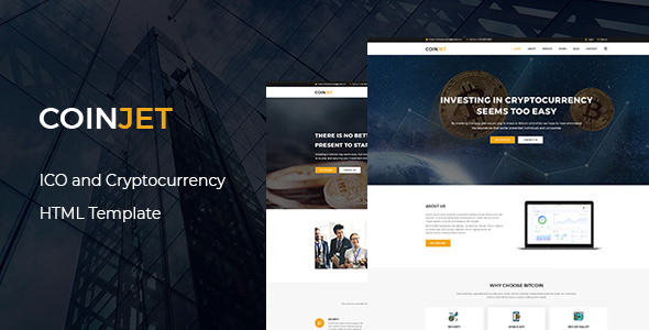 CoinJet — Bitcoin & Crypto Currency HTML Template